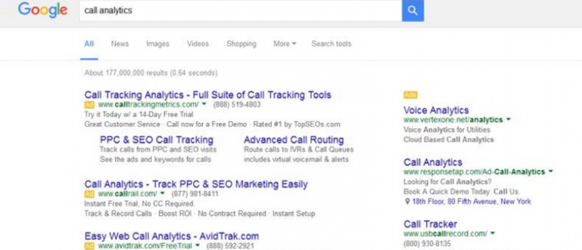 Case Study on Google SERP Change: How removing 36% of the PPC ads effected AdWords performance
